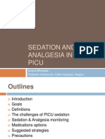 SEDATION and ANALGESIA in the PICU - Bijapur - Dr. Anand Bhutada
