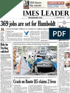 Times Leader 05 23 2013 Anwar Al Awlaki Government
