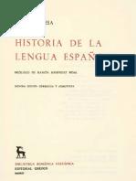 Historia de La Lengua Espanola Lapesa Rafael