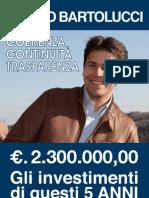 OPERE PUBBLICHE effettuate dal 2008 al 2013 dall'Amministrazione Bartolucci in Villadossola