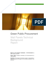Wall Panels and Green Public Procurement  Background Report