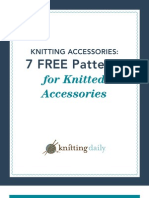 7 Free Patterns for Knitted Accessories