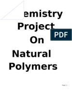 Project on Natural Polymers