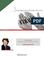 "USP-D - EAWOP 2013 ""High Trust Culture – A driver of organizational and leadership success"""