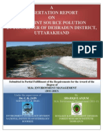 A Dissertation on Assessment of Non-Point Source Pollution in Tons River of Dehradun District, Uttarakhand