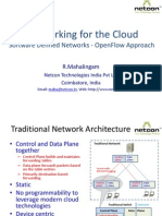 Networking for the Cloud - Software Defined Networks