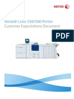 Xerox® Color 550/560 Printer Customer Expectations Document
