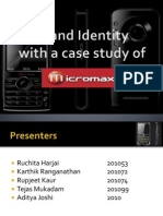 Brand Identity a Case Study of Micromax Mobile