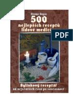 500 nejlepších receptů lidové m  edicíny