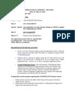 Summer School Session-registration Regs