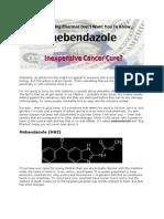 Mebendanzole Cancer