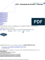 Tutorial Como Configurar o Modem ADSL THOMSON SPEEDTOUCH 510 V6