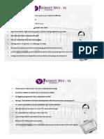 Highlights of Union Budget 2013-14