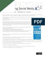 Social Media Conference- Agenda