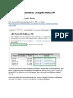 Weka Java API Tutorial
