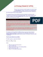 Capital Asset Pricing