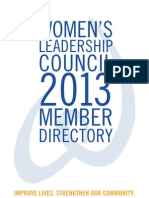 2013 Women's Leadership Council Membership Directory
