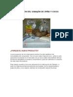 PEPARACIÓN DEL SABAJÓN DE PIÑA-COCO
