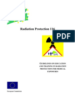 Radiation Protection - Report 116 - Guidelines on Education and Training in RP for Med Exposures