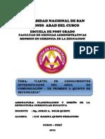 Cartel de Conocimientos Diversificados[1] Luz Marina Frisancho