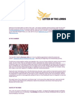 Letter of the Lords - May 23, 2013