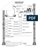 Labyrinth Lord AEC Character Sheet
