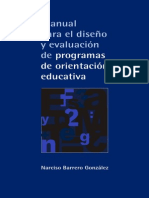 Manual Para El DiseA_-o y EvaluaciA3n de - Barrero GonzA!Lez, Narciso(Author)