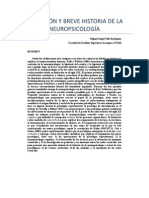 Definicion e Historia de La Neuropsicologia