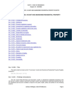 FORECLOSED, VACANT AND ABANDONED RESIDENTIAL PROPERTY REGISTRY