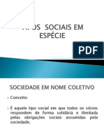 TIPOS  SOCIAIS EM ESPÉCIE