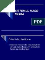 Sistemul Mass Media