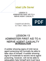 Lesson 13 Administer First Aid to a Nerve Agent Casualty