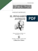 Mondolfo, Rodolfo - El Pensamiento Antiguo. Vol I y II