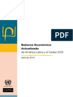 Balance Economic o Actualiza Do 2012