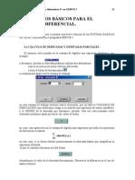 Derive 3 (Comandos c Diferencial)