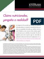 Claims nutricionales engaño o realidad