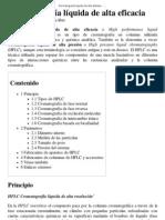Cromatografía líquida de alta eficacia - Wikipedia, la enciclopedia libre