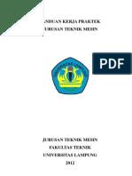 Panduan Kerja Praktek Teknik Mesin Universitas Lampung LENGKAP