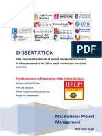 Dissertation - Role of Project Management Practices