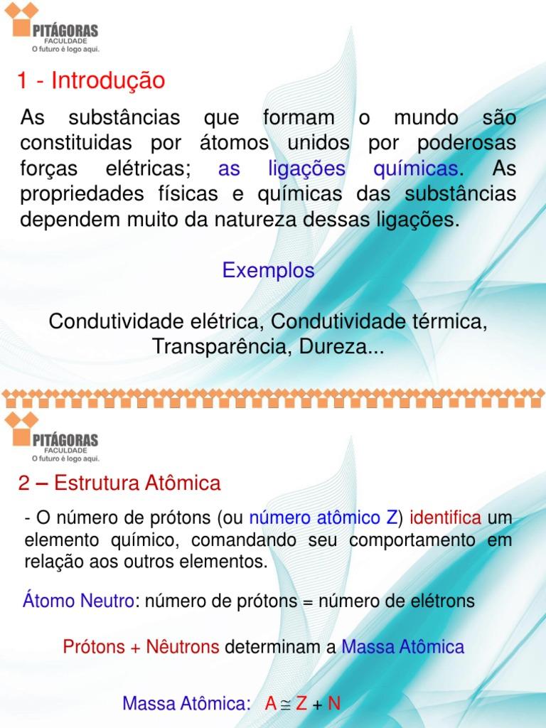 Estrutura Atomica Pitágoras Pptx
