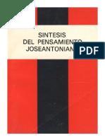 Síntesis del Pensamiento Joseantoniano