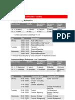 ICAEW Exam Dates