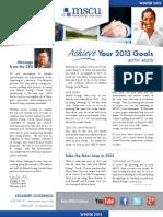 MSCU Member Newsletter Winter 2013