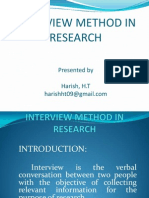 Interview Method in Research