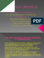POLÍTICA CREDITICIA
