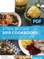 Atria Cookbooks 2013 Brochure