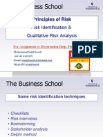 Principles of Risk - Qualitative Approaches