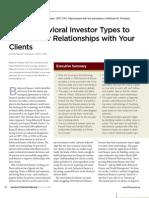 Using Behavioral Investor Types