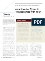 Using Behavioral Investor Types