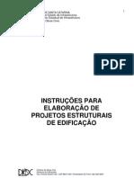 INSTRUÇÕES PARA ELABORAÇÃO DE PROJETOS ESTRUTURAIS DE EDIFICAÇÃO